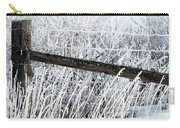 Hoar Frost On The Fence Carry-all Pouch