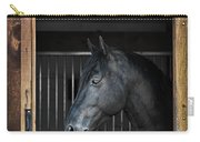 Horse In Stable Carry-all Pouch