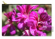 Ivy Geranium Named Contessa Purple Bicolor Carry-all Pouch