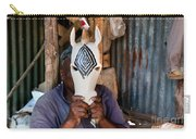 Kenya. December 10th. A Man Carving Figures In Wood. Carry-all Pouch