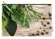 Kitchen Herbs Carry-all Pouch by Nailia Schwarz