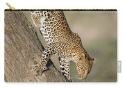 Leopard Panthera Pardus On Tree, Ndutu Carry-all Pouch