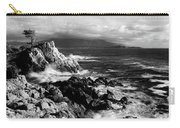 Lone Cypress On The Coast, Pebble Carry-all Pouch