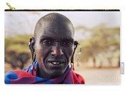 Maasai Man Portrait In Tanzania Carry-all Pouch