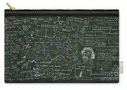 Maths Formula On Chalkboard Carry-all Pouch by Setsiri Silapasuwanchai