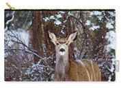 Mule Deer In Snow Carry-all Pouch