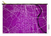 New Delhi Street Map - New Delhi India Road Map Art On Color Carry-all Pouch