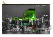 New York Map And Skyline Watercolor Carry-all Pouch