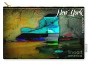 New York Map Watercolor Carry-all Pouch