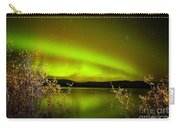 Northern Lights Mirrored On Lake Carry-all Pouch