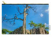 Old And Ancient Dry Tree On Top Of Mountain Carry-all Pouch