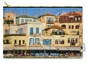 Painting Of The Old Port Of Chania Carry-all Pouch by George Atsametakis
