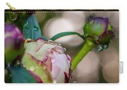 Peony With Rain Drops Carry-all Pouch
