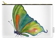 3 Perched Orange Spot Butterfly Carry-all Pouch by Amy Kirkpatrick