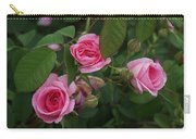 3 Pink Roses Carry-all Pouch