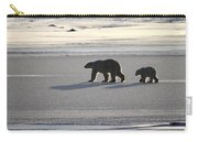 Polar Bear Mother And Cub Carry-all Pouch