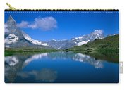 Reflection Of Mountains In Water Carry-all Pouch