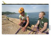 Rock Climbing On Oceanside Cliffs Carry-all Pouch
