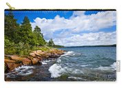 Rocky Shore Of Georgian Bay Carry-all Pouch by Elena Elisseeva