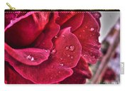 Red Rose And Summer Rain Carry-all Pouch