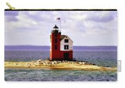 Round Island Lighthouse Straits Of Mackinac Michigan Carry-all Pouch