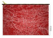 San Jose Street Map - San Jose Costa Rica Road Map Art On Colore Carry-all Pouch