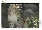 Snow Leopard On The Prowl Carry-all Pouch