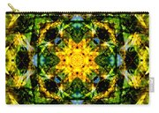 Stained Glass Sun Mandala Carry-all Pouch