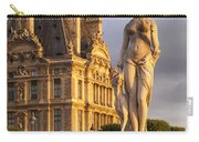 Statue Below Musee Du Louvre Carry-all Pouch