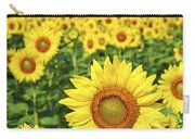 Sunflower Field Carry-all Pouch by Elena Elisseeva