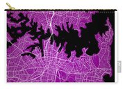 Sydney Street Map - Sydney Australia Road Map Art On Colored Bac Carry-all Pouch