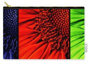 3 Tile Sunflower Colors Carry-all Pouch