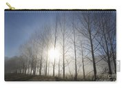 Trees On A Foggy Field Carry-all Pouch