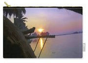 View Of Sunrise From Boat Carry-all Pouch