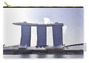 View Of The Towers Of The Marina Bay Sands In Singapore Carry-all Pouch