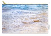 Waves Breaking On Tropical Shore Carry-all Pouch by Elena Elisseeva