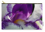 White And Purple Iris 2 Carry-all Pouch
