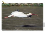 White Ibis In Flight Carry-all Pouch