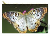 White Peacock Butterfly Carry-all Pouch