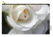 White Rose Petals Carry-all Pouch