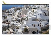 Windmills And White Houses In Oia Carry-all Pouch