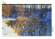 Winter By The Lake Carry-all Pouch