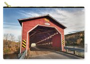 Wooden Covered Bridge  Carry-all Pouch by Ulrich Schade