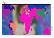 World Map And Aphrodite Carry-all Pouch