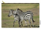 Zebra Males Fighting Carry-all Pouch