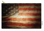 American Flag Rippled Carry-all Pouch
