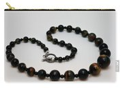 3608 Blue Tiger Eye Graduated Necklace Carry-all Pouch