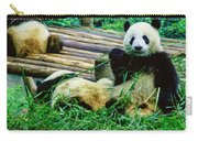 3722-panda -  Colored Photo 1 Carry-all Pouch