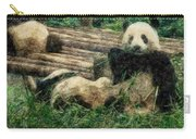 3722-panda -  Colored Photo 2 Carry-all Pouch
