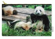 3722-panda -  Embossed Sl Carry-all Pouch